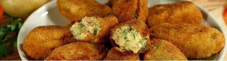 Картофельные палочки со шпеком