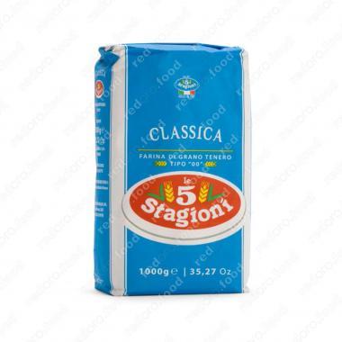 Мука из мягких сортов пшеницы типа 00 Классика le 5 Stagioni 1 кг