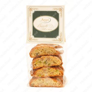 Кантуччини с фисташками и грецким орехом ручной работы Amari 200 г