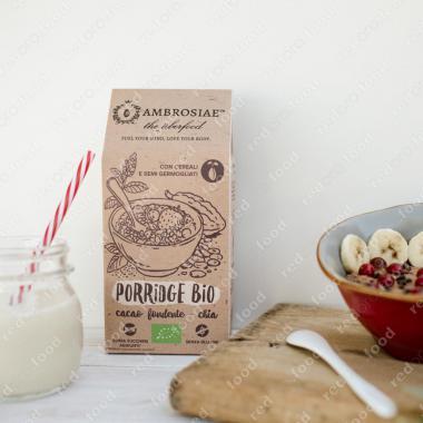Овсяная каша с какао и семенами чиа БИО, Без Глютена, Веган Ambrosiae 250 г