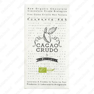 Шоколадная плитка из тёмного шоколада 90% 50 г БИО, Веган, Cacao Crudo
