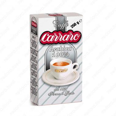 Кофе молотый 100% Арабика (Arabica 100%) Carraro 250 г