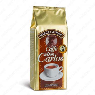 Кофе в зёрнах Дон Карлос смесь Бар (Don Carlos) Carraro 1 кг