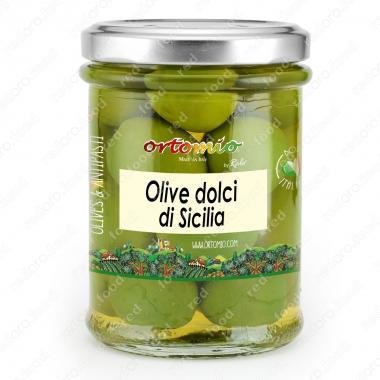 Оливки зелёные Дольчи ди Сицилия Castellino 180 г