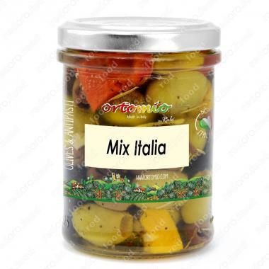 """Смесь оливок с перцем """"Италия"""" в масле Castellino 180 г"""