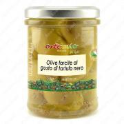 Оливки зеленые с черным трюфелем в масле 180 г
