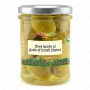 Оливки зеленые с белым трюфелем в масле 180 г