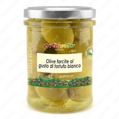 Оливки зеленые с белым трюфелем в масле 180 г Марке, Италия Castellino
