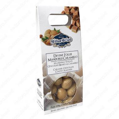 Конфеты Драже с миндалем в белом шоколаде 100 г Willam di Carlo