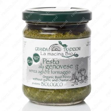 Соус песто Дженовезе с Базиликом DOP без чеснока и сыра 180 г La Macina BIO