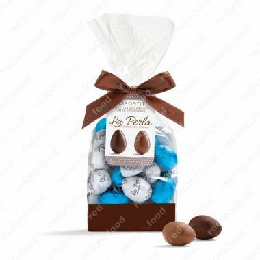 Конфеты ассорти яйца молочно-шоколадные Без Глютена, La Perla Di Torino 200 г