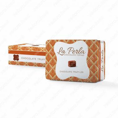 Конфеты шоколадные Ассорти из трюфелей в подарочной упаковке Окра Без Глютена, La Perla Di Torino 200 г