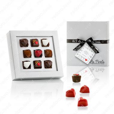 Конфеты шоколадные Ассорти Сан Валентино в подарочной упаковке Без Глютена, La Perla Di Torino 60 г