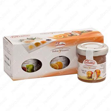 Набор из трех соусов фруктовых (груша инжир апельсин) Lazzaris 150 г