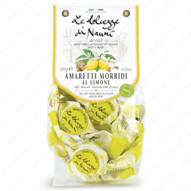 Амаретти мягкие с Лимоном 120 г le Dolcezze di Nanni ручной работы, Без глютена, Веган