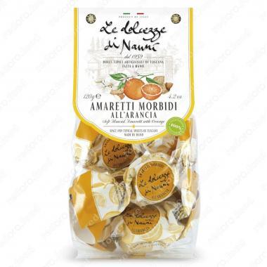 Амаретти мягкие с Апельсином 120 г le Dolcezze di Nanni ручной работы, Без глютена, Веган