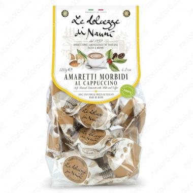 Амаретти мягкие со вкусом Капучино 120 г le Dolcezze di Nanni ручной работы, Без глютена, Веган