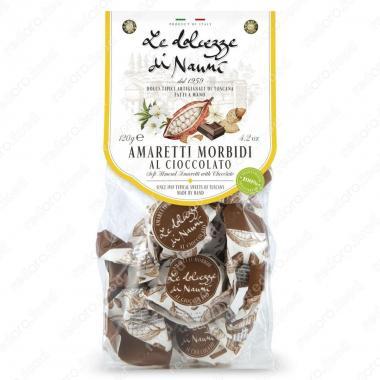 Амаретти мягкие с Шоколадом 120 г le Dolcezze di Nanni ручной работы, Без глютена, Веган
