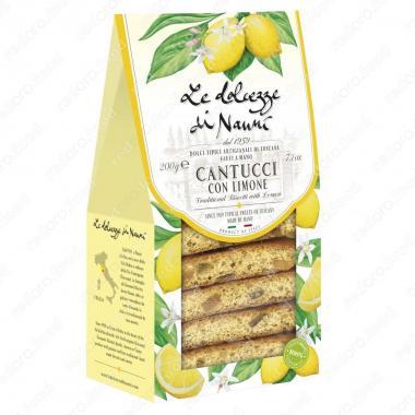 Кантуччини с Лимоном 200 г le Dolcezze di Nanni ручной работы, Веган