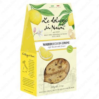 Морбидуччи кантуччи мягкие с Лимоном 200 г le Dolcezze di Nanni ручной работы, Веган