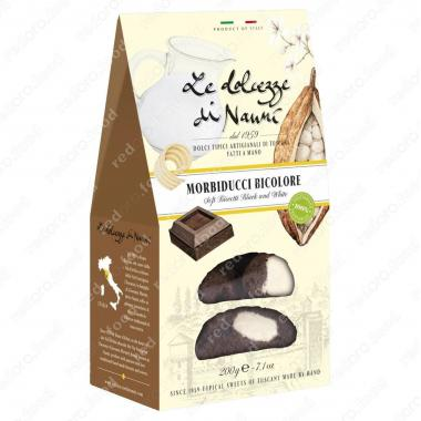 Морбидуччи кантуччи мягкие двойной шоколад 200 г le Dolcezze di Nanni ручной работы, Веган
