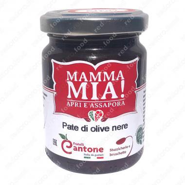 Соус Пате из чёрных оливок 130 г, Mamma Mia