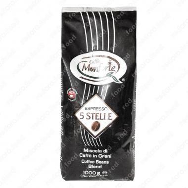 Кофе жареный в зёрнах «Эспрессо 5 Cтелле» Monforte 1000 г, средне-тёмная обжарка