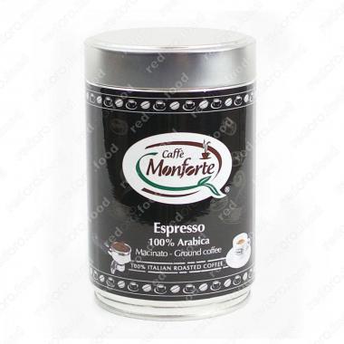 Кофе жареный в зёрнах «Эспрессо 100% Арабика» Monforte 250 г, средне-тёмная обжарка