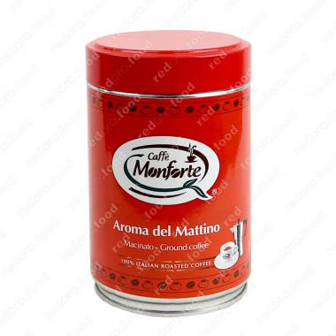 Кофе жареный, молотый «Арома дел Маттино» Monforte 250 г, тёмная обжарка