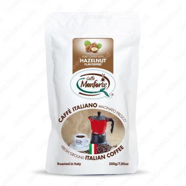 Кофе жареный, молотый «Флауверед фундук» MonForte 200 г, средне-тёмная обжарка