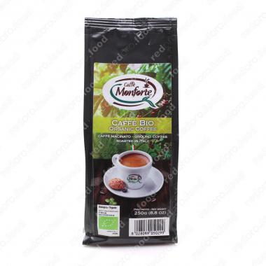 Кофе жареный, молотый «БИО» MonForte 250 г, средне-тёмная обжарка