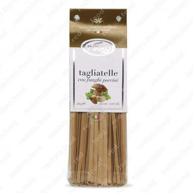 Макаронные изделия ручной работы из твердых сортов Тальятелли с белыми грибами Pasta Pirro 250 г