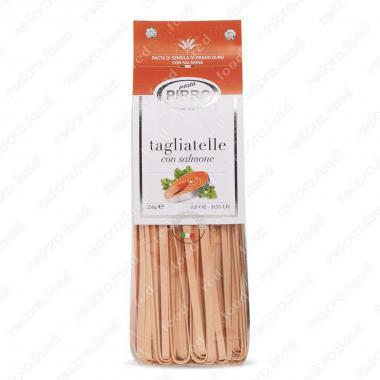 Макаронные изделия ручной работы из твердых сортов тальятелли с лососем Pasta Pirro 250 г