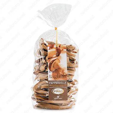 Макаронные изделия ручной работы из твердых сортов папарделле с белыми грибами Pasta Pirro 250 г