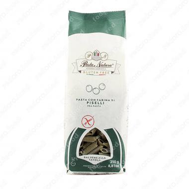 Макаронные изделия из зелёного горошка Пенне Pasta Natura 250 г, Без Глютена, Веган