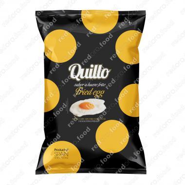 Картофельные чипсы со вкусом жареного яйца 130 г Гурме Премиум, Quillo