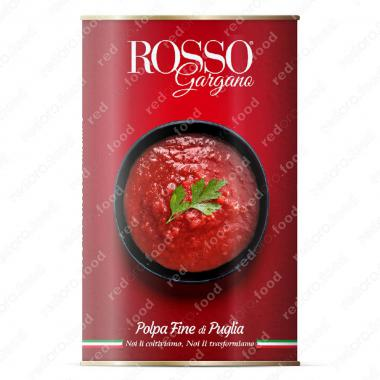 Томаты протёртые, соус для Пиццы в собственном соку Rosso Gargano 4,05 кг
