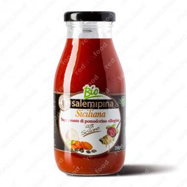 Томатный соус из сицилийских помидоров черри Сицилийский Без Глютена, БИО, Веган Salemipina 250 г