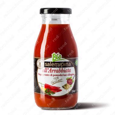 Томатный соус из сицилийских помидоров черри Арабьятта Без Глютена, БИО, Веган Salemipina 250 г