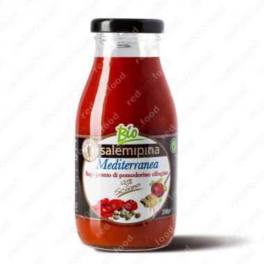 Томатный соус из сицилийских помидоров черри Средиземноморский Без Глютена, БИО, Веган Salemipina 250 г