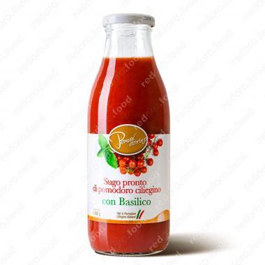 Томатный соус из сицилийских помидоров черри с базиликом Без Глютена Pomodorino 500 г