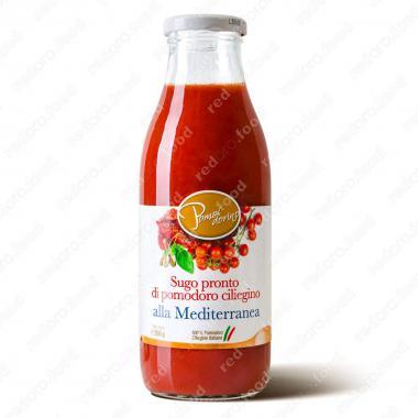 Томатный соус из сицилийских помидоров черри Средиземноморский Без Глютена Pomodorino 500 г