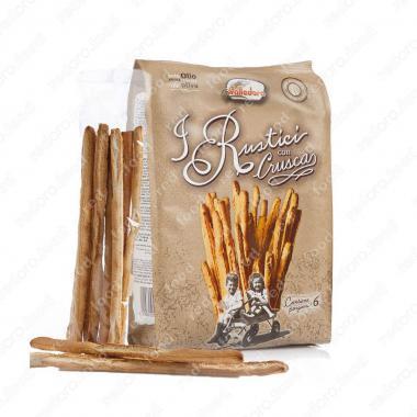 Хлебные палочки Рустичи с оливковым маслом и отрубями 300 г, Valledoro