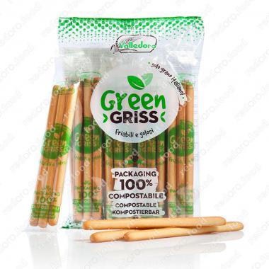 Хлебные палочки Грин Грисс в биоразлагаемой упаковке 240 г Valledoro