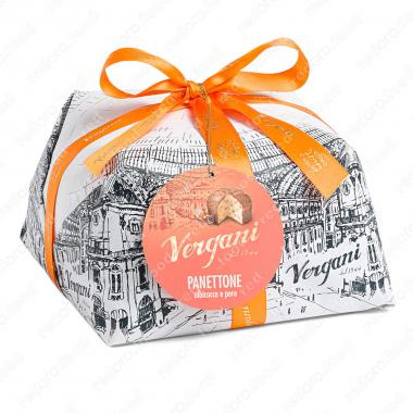 Кекс Панеттоне с абрикосом и грушей Vergani 1 кг
