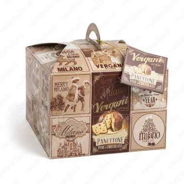 Кекс Панеттоне с шоколадом и карамелизированной грушей Vergani 1 кг